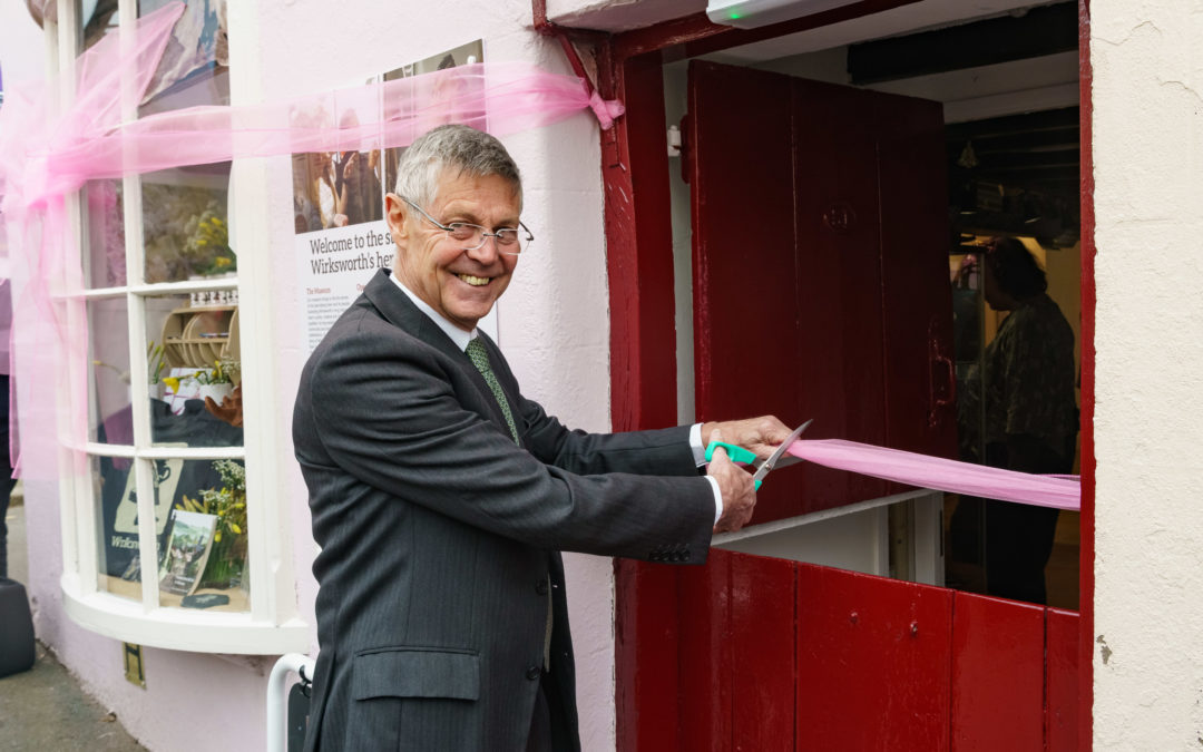 Wirksworth Heritage Centre official opening by broadcaster Matthew Parris